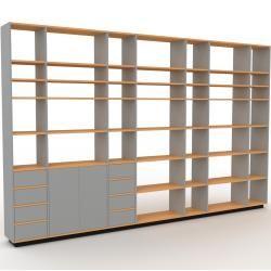 Photo of Regalsystem Grau – Regalsystem: Schubladen in Grau & Türen in Grau – Hochwertige Materialien – 380 x