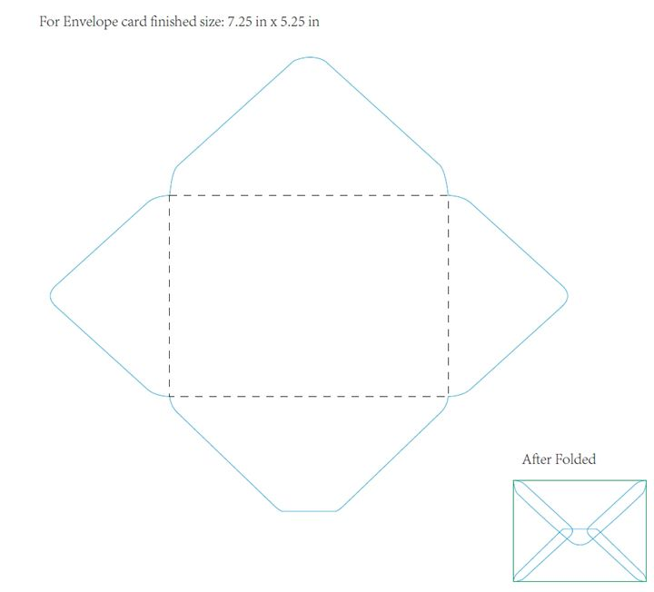 An Envelope Template To Be Used For 4X6 Photos. | Snail Mail