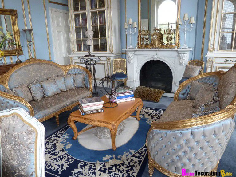 Charmant French Regency Style Living Room With A Modern Flair