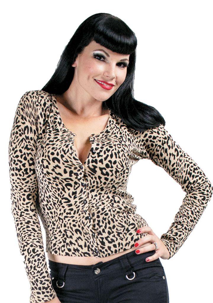 Inked Boutique - Leopolda Leopard Cardigan Women's Natural Retro Rockabilly Pin Up Animal Print http://www.inkedboutique.com