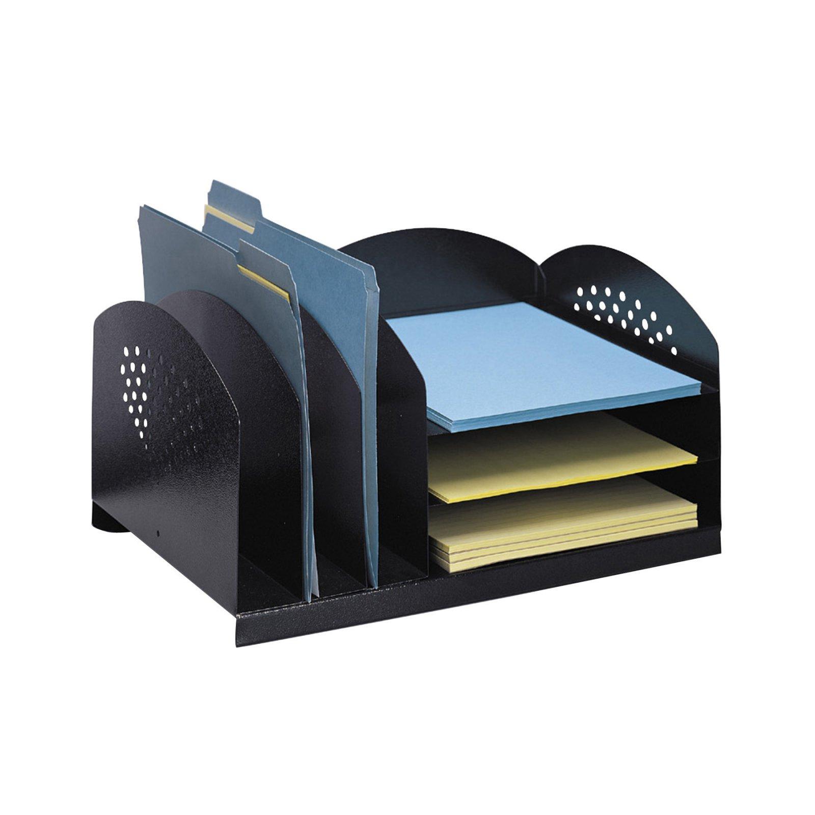 Safco 3Horizontal / 3Upright Sections Steel Desktop