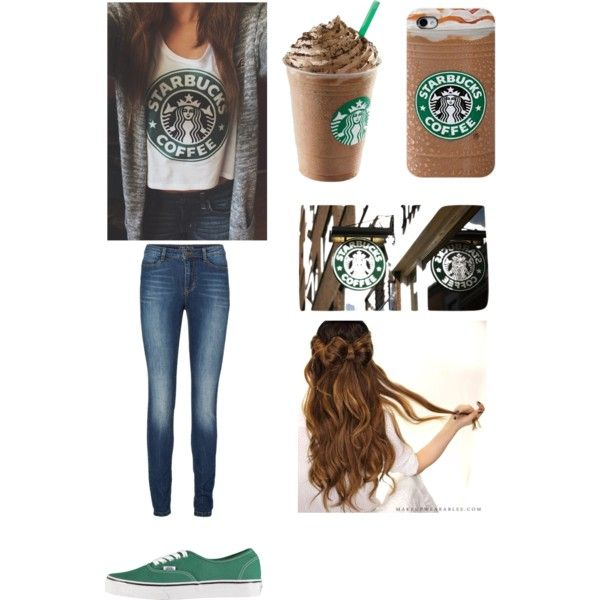Starbucks outfit by amberpend on Polyvore featuring polyvore, fashion, style, Lipsy, Vans and Savanna