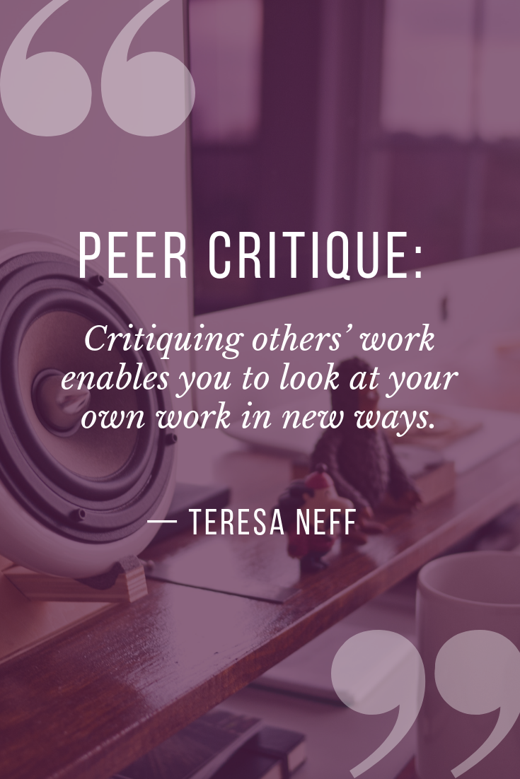 how to critique your own work