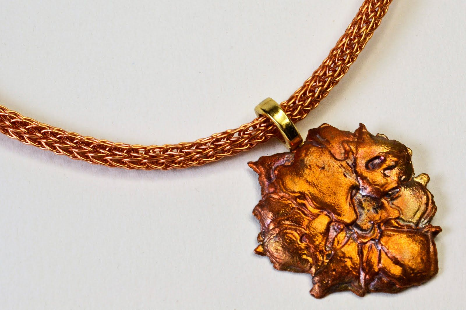 Hand made chain of copper wire, put together with Viking Wire ...