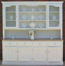 LARGE FRENCH PROVINCIAL COUNTRY FARMHOUSE BUFFET HUTCH SIDEBOARD
