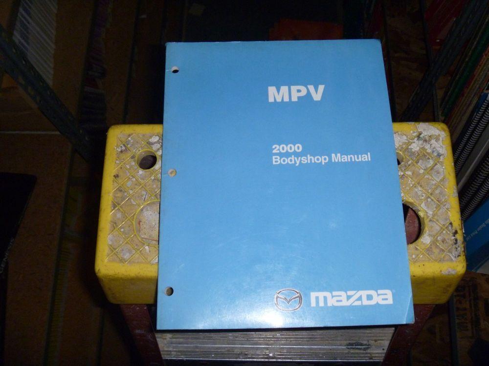 2000 Mazda Mpv Minivan Body Shop Service Repair Manual Dx Lx Es