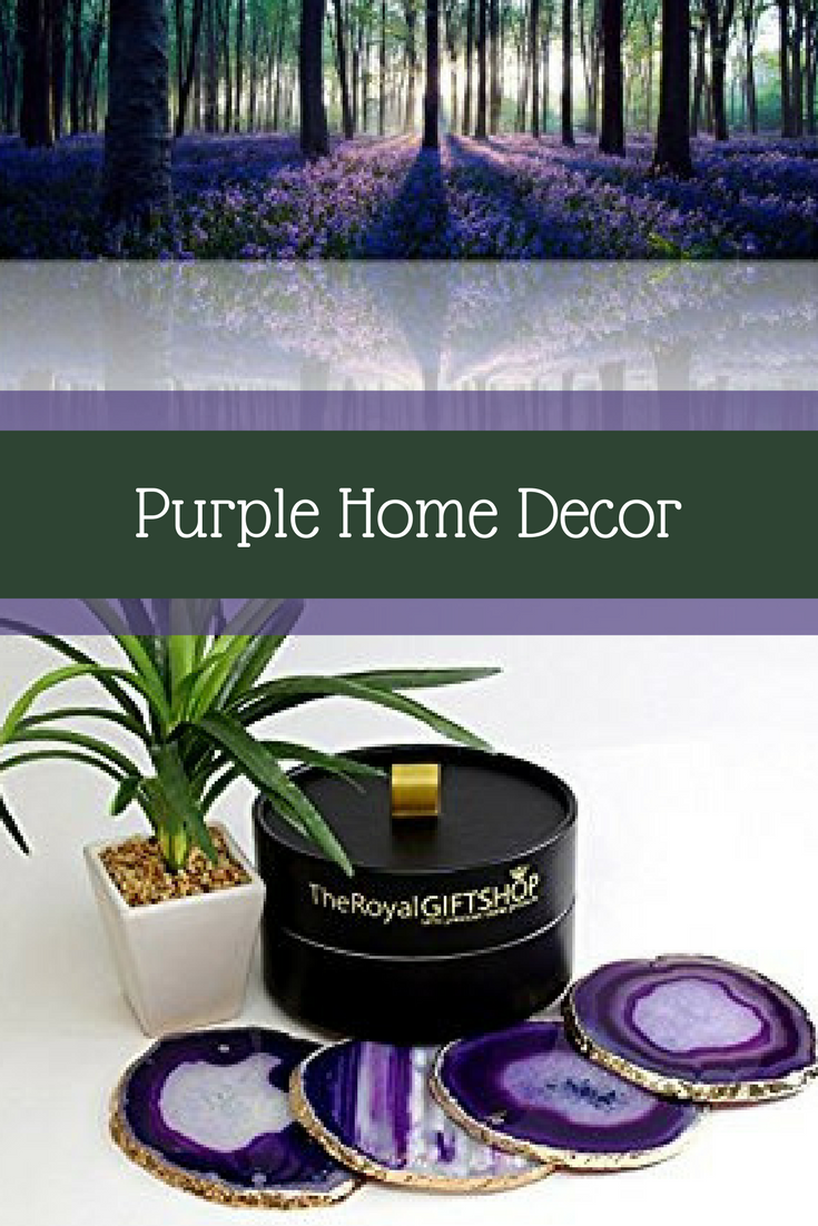 I absolutely love decorating with purple accents as purple  home décor is trendy, elegant and sophisticated.  Additionally, purple symbolizes luxury,  relaxation and mystery. As a result, your family will find your home unique and  beautiful.  Consider using purple  contemporary wall art together with purple accents pillows and purple  decorative accents to create a purple home décor theme.      Purple Decorative Accents - purple home decoration ideas