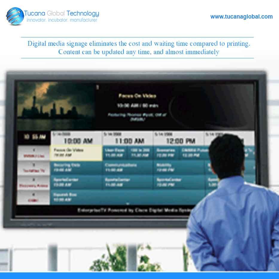 Digital media #signage eliminates the #cost and #waiting