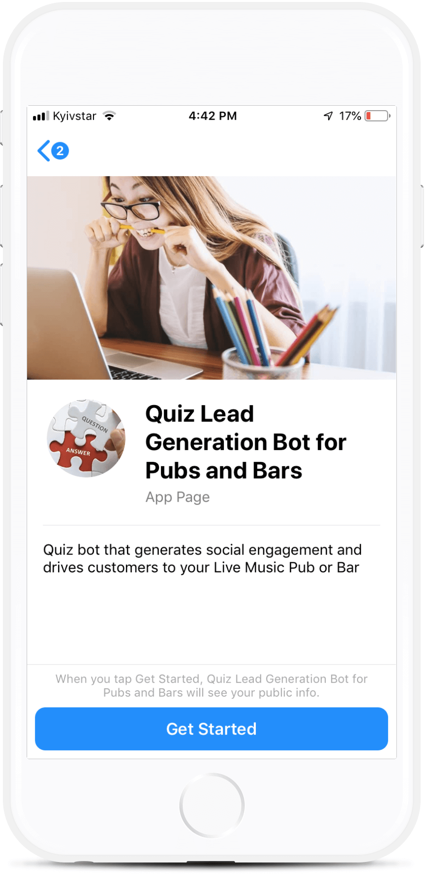 Quiz Lead Generation Bot For Pubs And Bars Quiz Bot That Generates Social Engagement And Drives Customers To Your Live Lead Generation Quiz Live Music Events