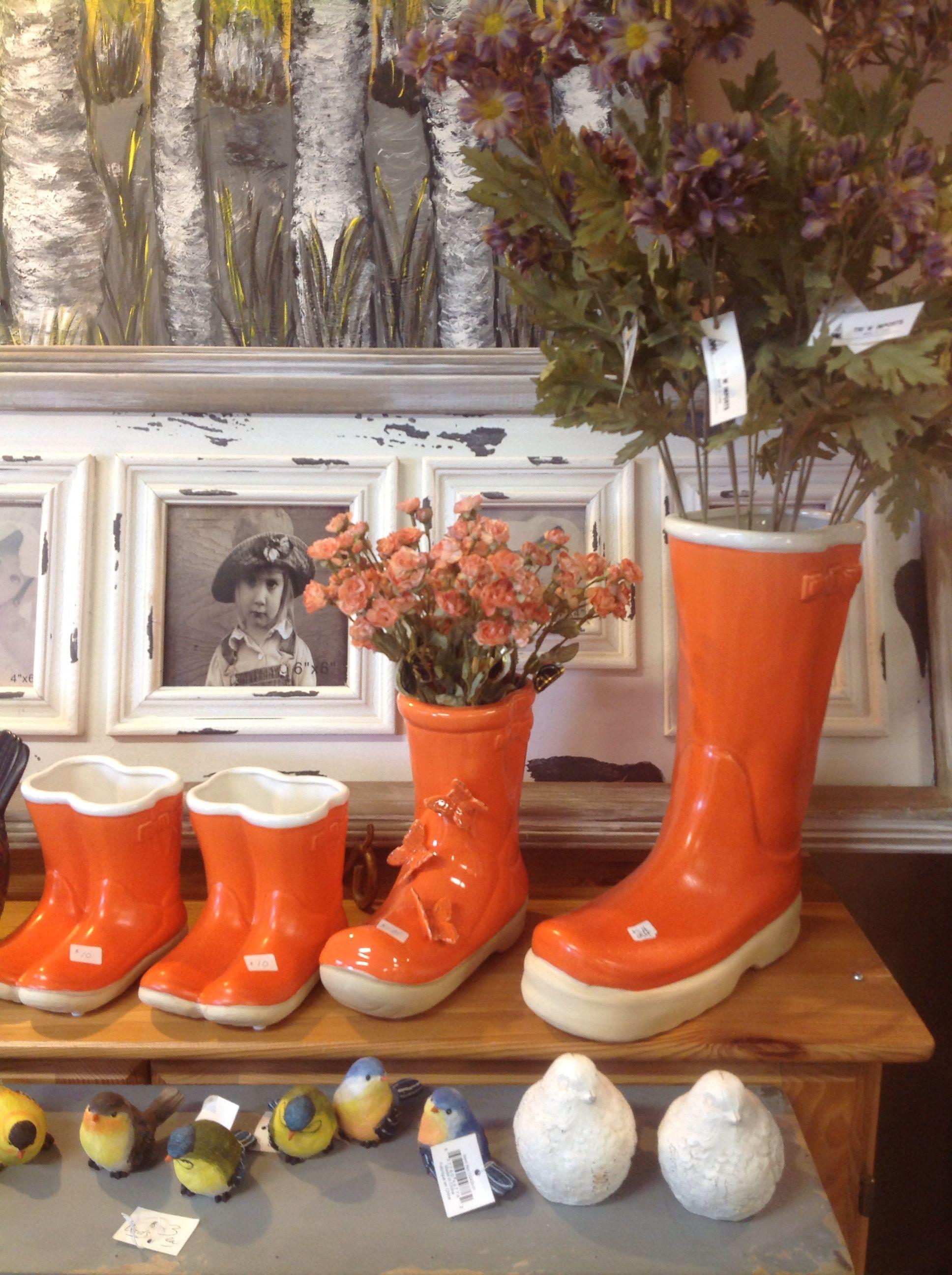 Ceramic rain boot vases sold at grapevine cottage collingwood ceramic rain boot vases sold at grapevine cottage collingwood 705 445 reviewsmspy