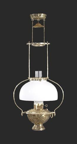 Mammoth Lamp with Opal Glass Shade