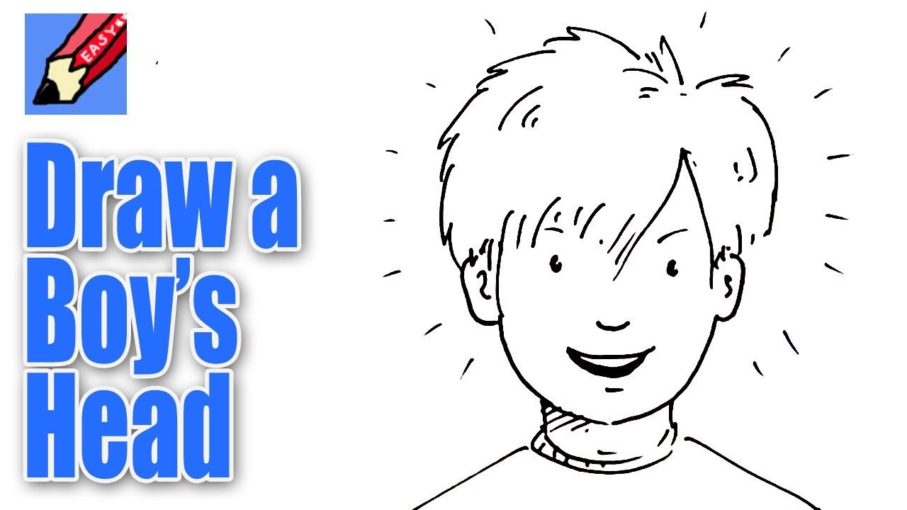 How To Draw A Boy S Face From The Front Real Easy Drawings Boy Face Drawing Illustrations