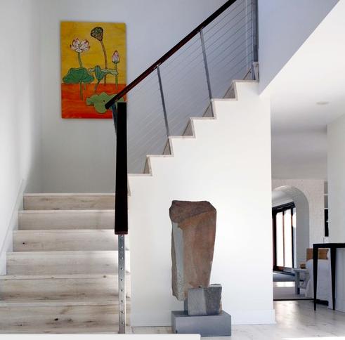 Amazing Whitewash Stairs