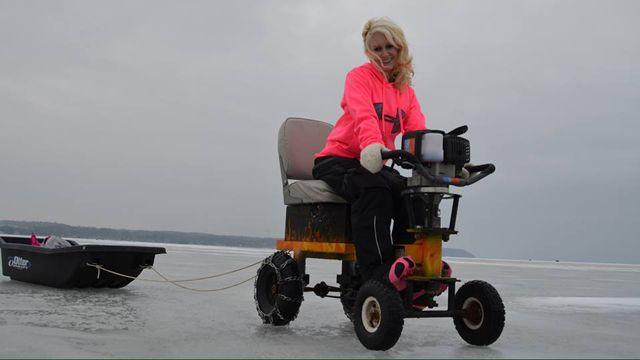 Ice Auger Go Kart | Welding projects | Go kart, Ice, Ice fishing