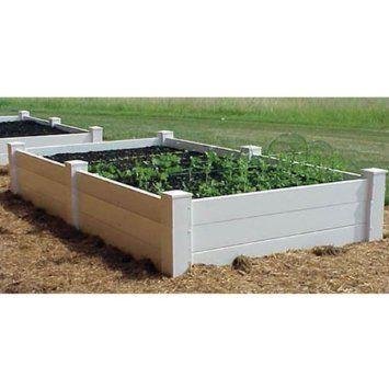 Amazon Com Dura Trel Vinyl Raised Planter Box 4ft X 8ft X 16 Pet Supplies Planter Beds Raised Planter Beds Raised Planter