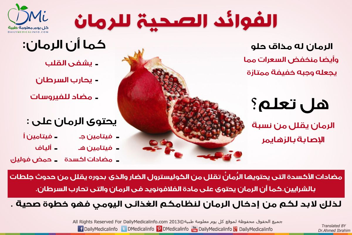 انفوجرافيك فوائد الرمان الصحية Health Facts Food Health Food Health Facts Fitness