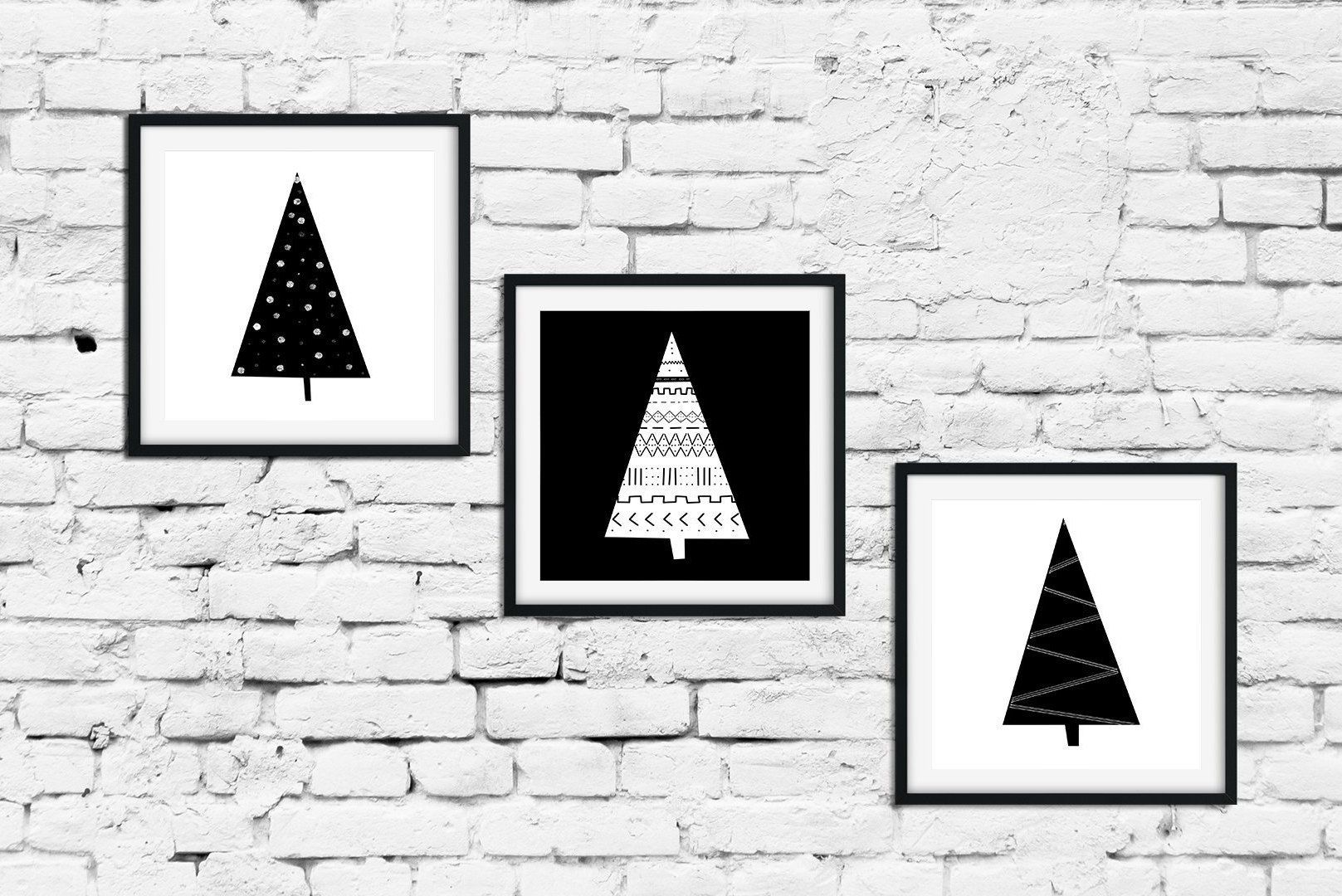 Nordic Christmas 3 Piece Wall Art Christmas Printable Etsy In 2020 Modern Christmas Art Holiday Wall Art Printable Art Set