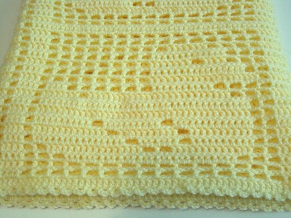 Crochet Pattern Baby Blanket Duck : Crocheted Baby Blanket, Baby Afghan, Baby Boy, Baby Girl ...