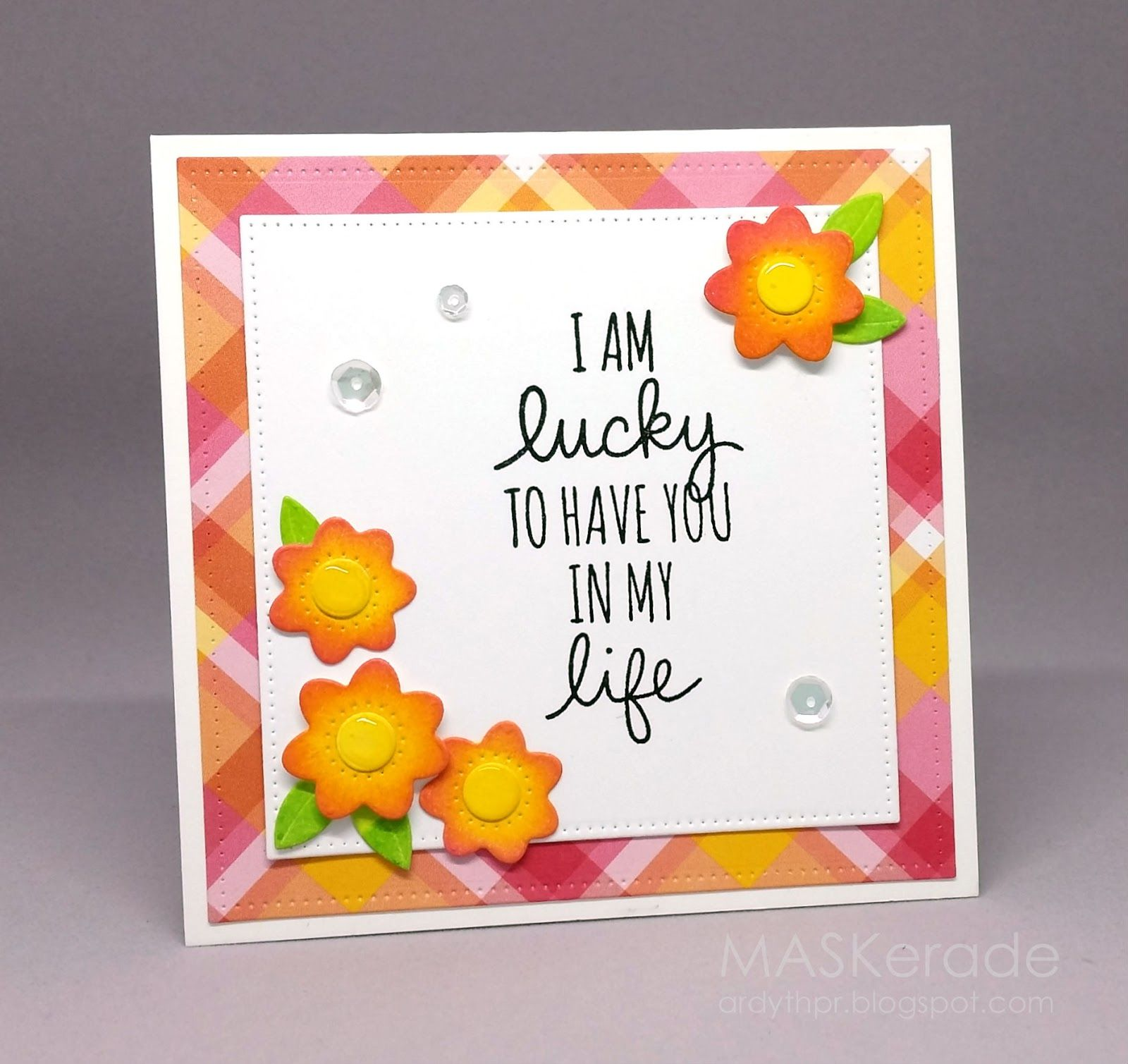 Maskerade fs lucky cards encouragement pinterest