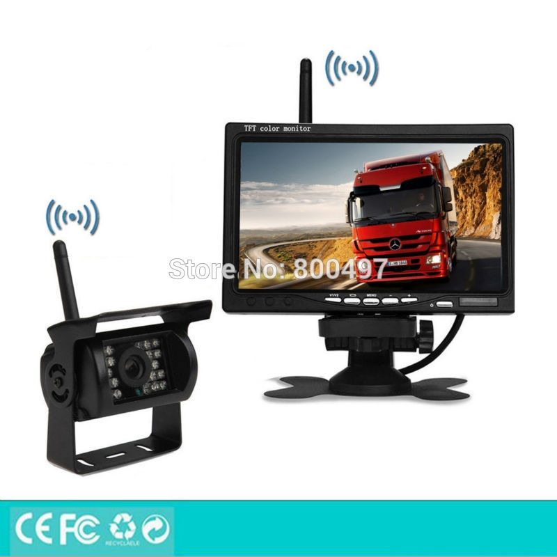 93.99$  Watch now - http://ali6o1.worldwells.pw/go.php?t=32664305978 - Newest Wireless Parking Assistance System Remote 100M Rear View Camera 7 Inch TFT LCD Car Monitor Fit for Auto Truck Van Bus 93.99$
