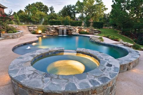 Pools With Spas Top 5 Design Options For Pool Spa Combos Small Fiberglass Pools Fiberglass Pools Small Inground Pool Cost
