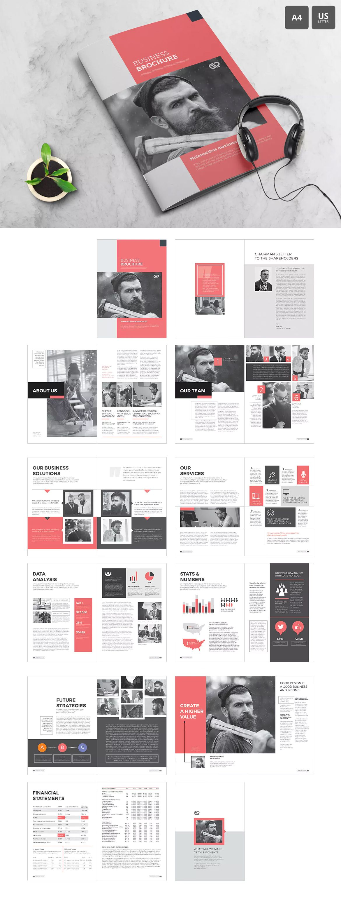 The Corporate Brochure Template InDesign INDD
