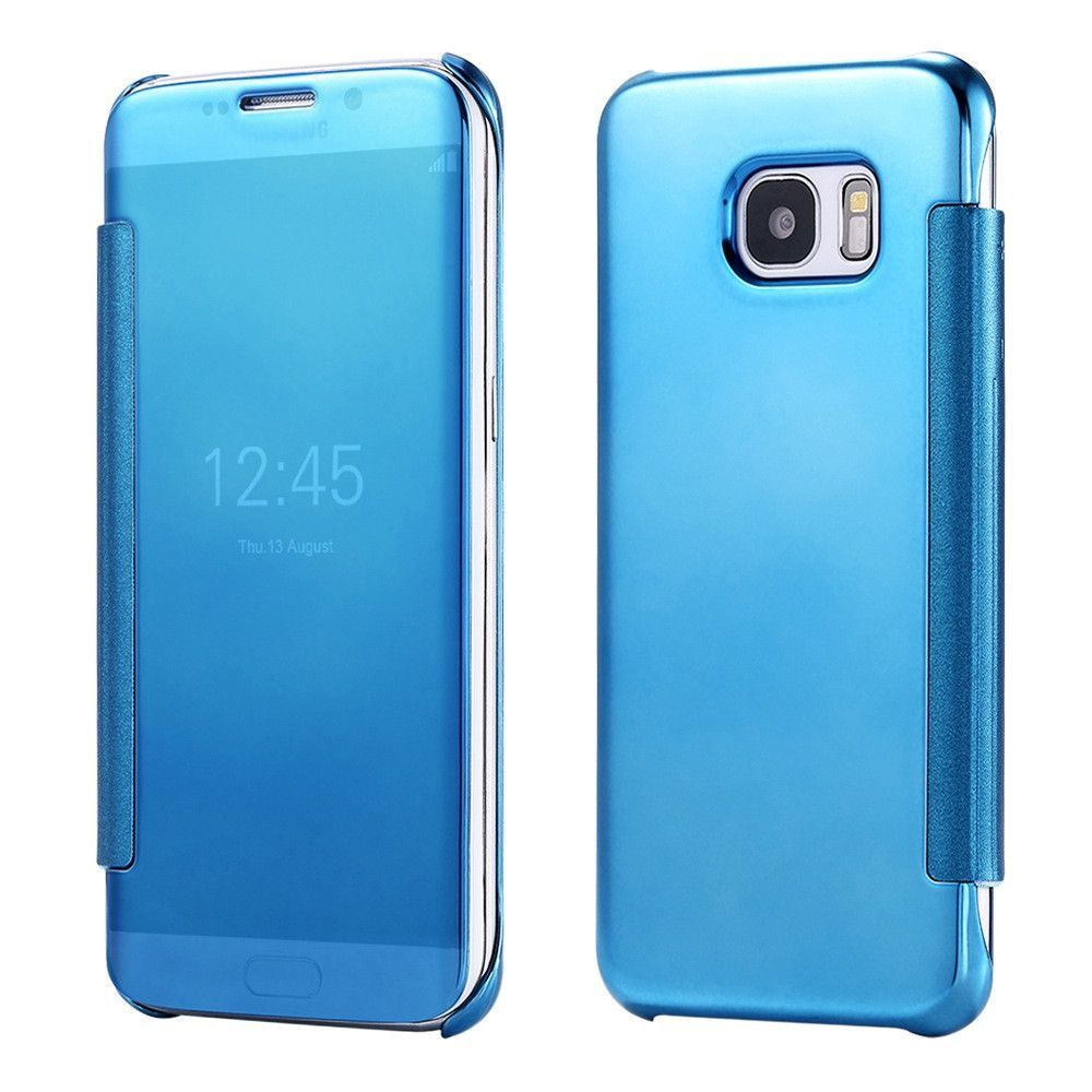 0ad9b56b3b S6 Edge Plus Hard Plastic Flip Leather Case for Samsung Galaxy S6 S6 Edge  S7 Edge Plating Mirror Slim Phone Cover Accessories