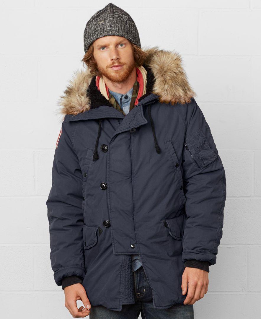 Denim & Supply Ralph Lauren Men's Down Snorkel Jacket - Coats & Jackets -  Men - Macy's