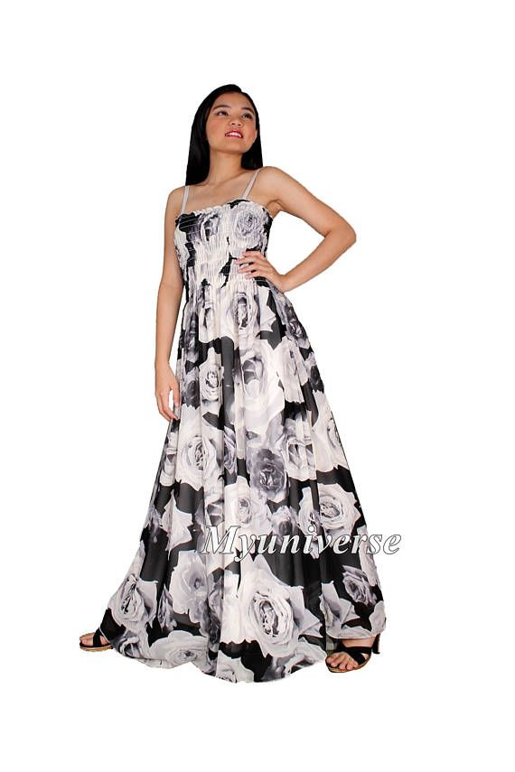 9583a9cd8bfc3 Black Maxi Dress Women Plus Sizes Clothing Long Floral Maternity Dress  Casual Beach Party Wedding Guest Blue Chiffon Summer Sundress