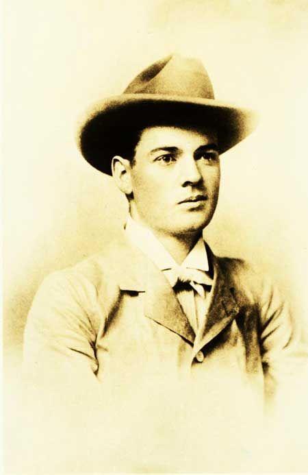 Portrait of Herbert Hoover in Perth Australia. 1898.