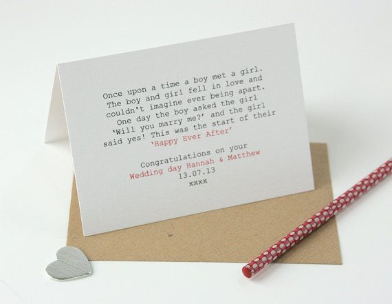 This Modern Wedding Congratulations Card Can Be Personalised With