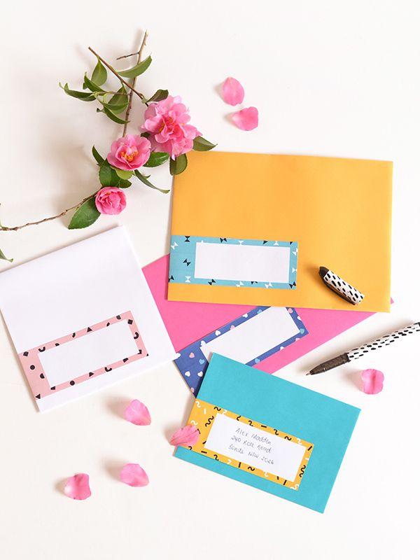 Printable Patterned Envelope Address Labels