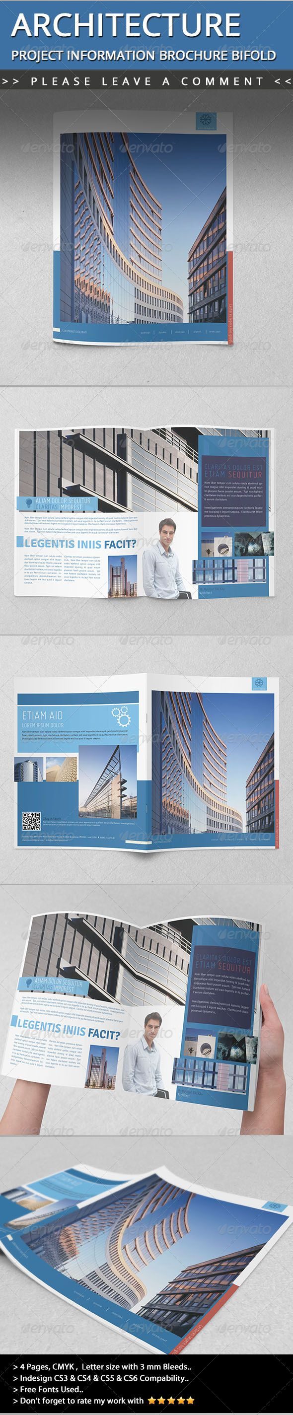 Architecture Project Information Brochure Bifold Informational