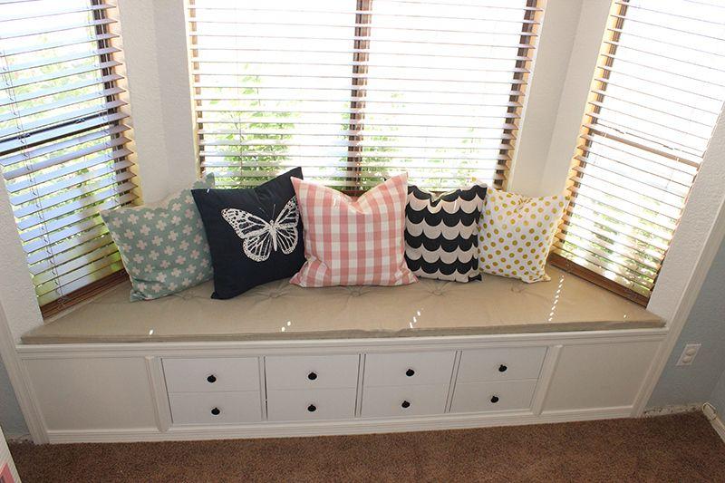 Ikea Hack Kallax Shelf Turned Window Bench Anna S Room Phase 2 Kallax Ikea Kallax Shelf Window Benches