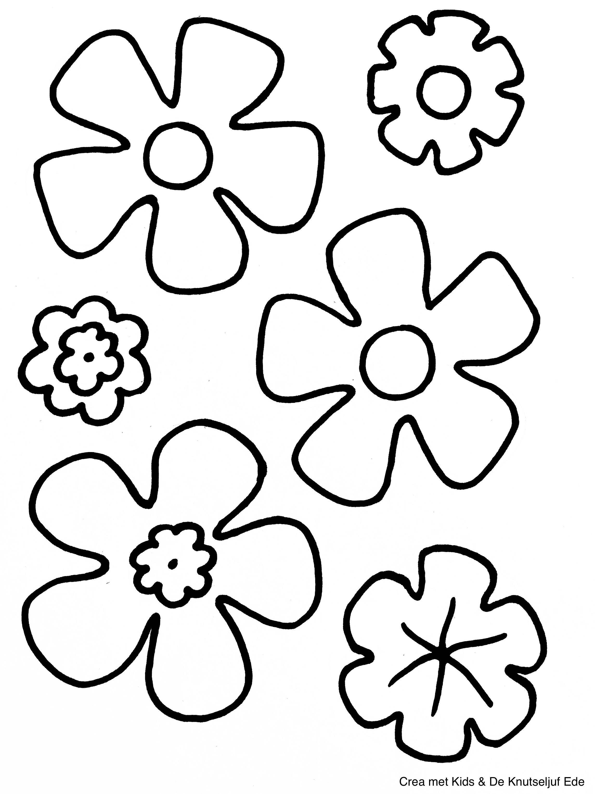 Kleurplaten Lente Voor Peuters.Kleurplaten Bloemen Kleurplaten Kleurplaat Kleurplaat Bloemen