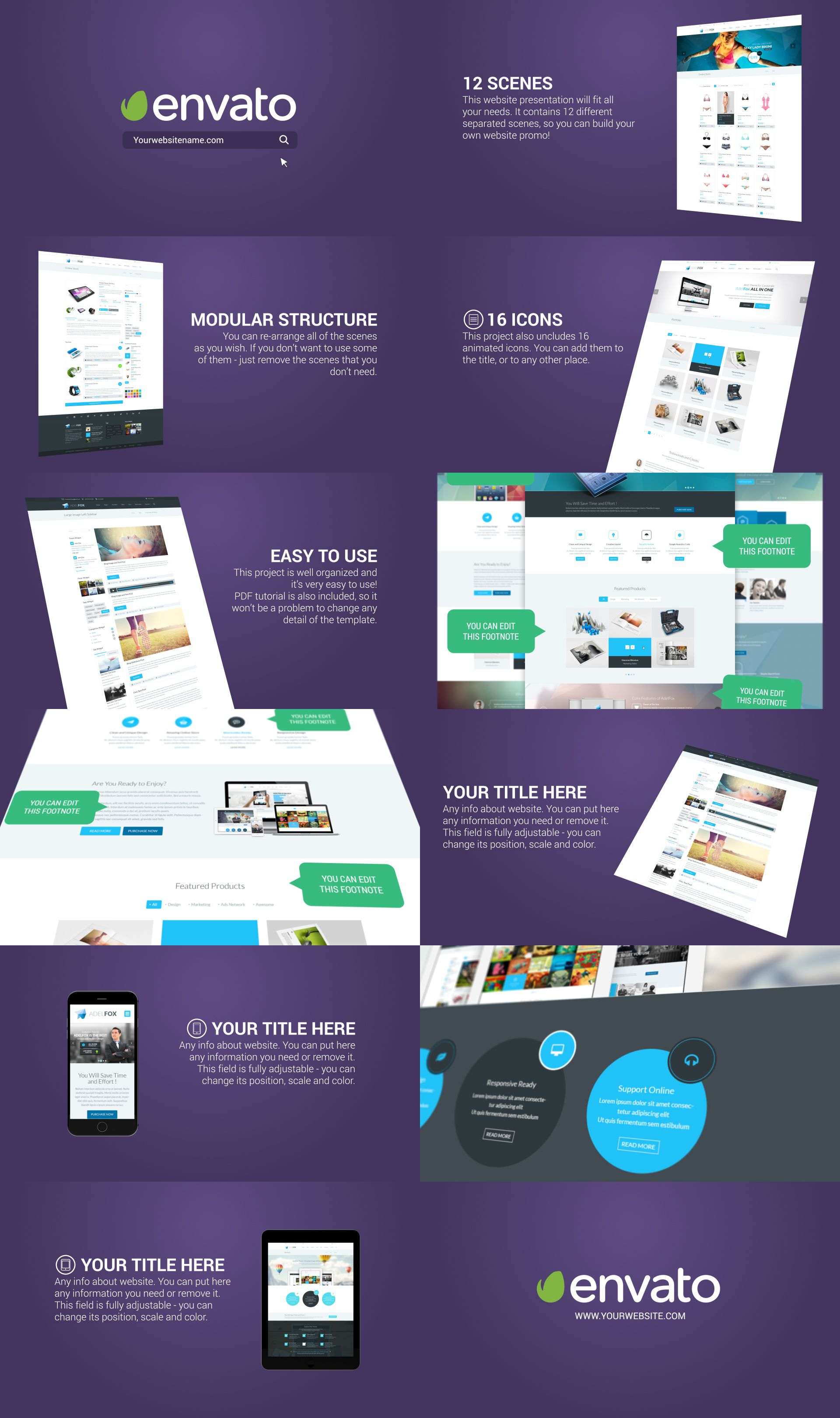 website presentation | after effects, see it and templates, Presentation templates