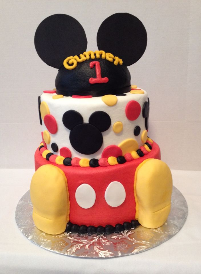 Mickey Mouse 1 St Birthday Cake Cake On Board Jsw My