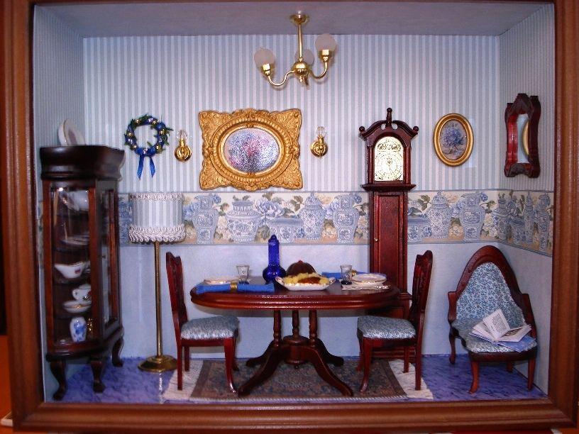Roombox soggiorno azzurro.