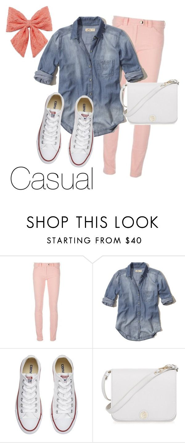 """""""Casual"""" by gabgirl54321 ❤ liked on Polyvore featuring Balenciaga, Hollister Co., Converse, Furla and Decree"""