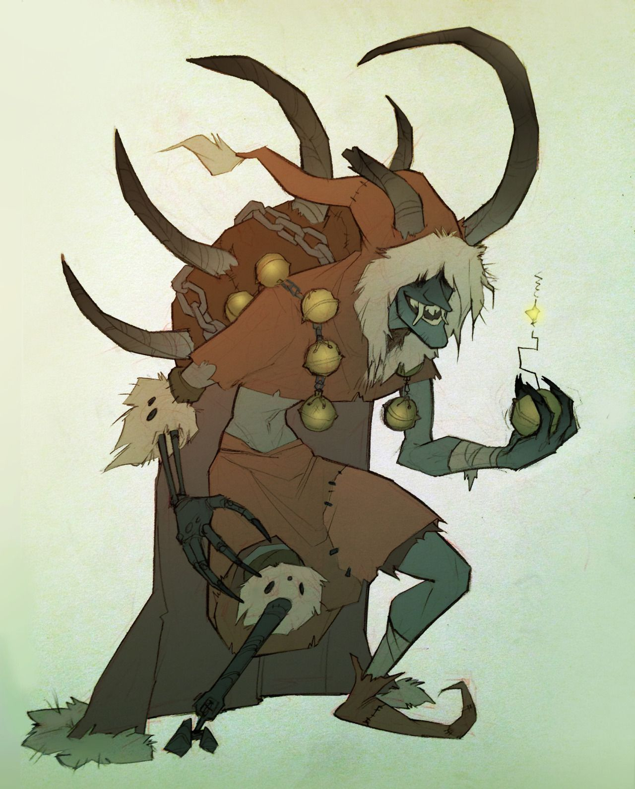 Overwatch Christmas 2019 Skins.Coconutmilkyway Junkrat Krampus Skin Krampus In 2019
