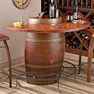 Amazon Com Vintage Oak Half Wine Barrel Bar Home Kitchen Wine Barrel Bar Barrel Bar Barrel Coffee Table