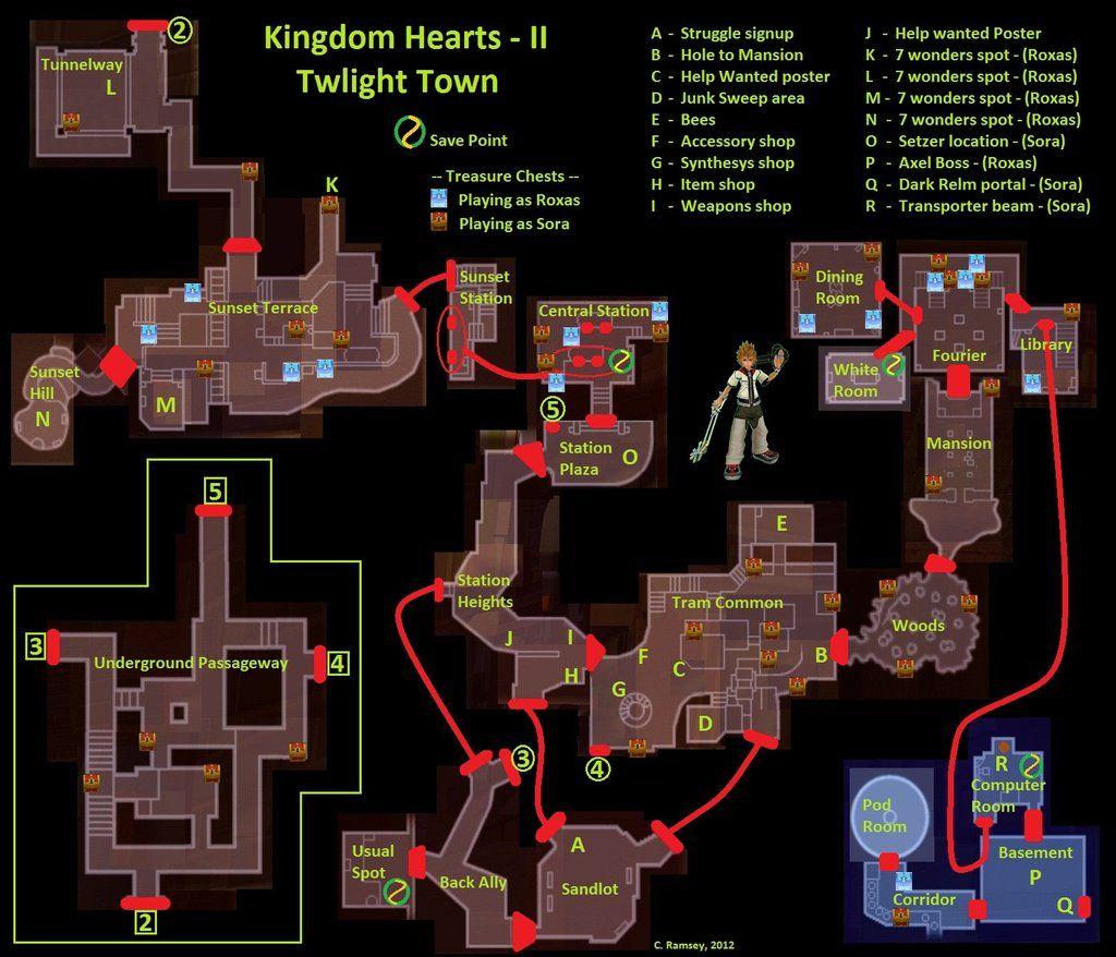 kingdom hearts 2 map google search mapped pinterest