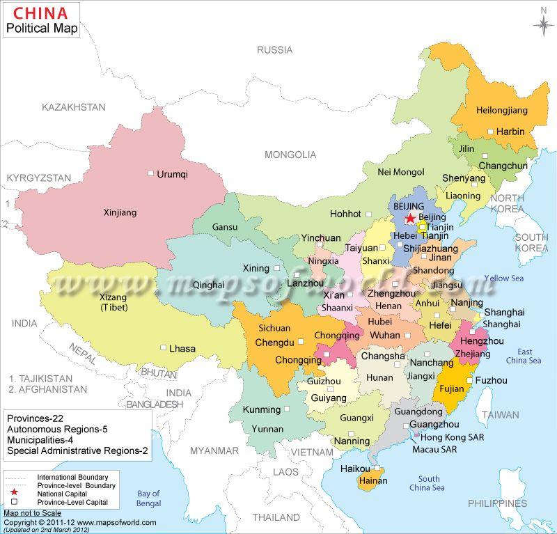http://www.mapsofworld.com/china/china-political-map.html | World ...