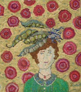 Sharon From Off The Hook Wool Rugs Peas Garden Hat