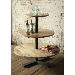 Wood 3 Tier Display Table Display Tower Wood Display Decor Display