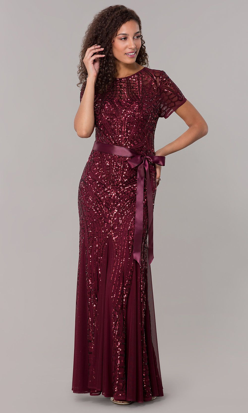 a50ce4d5 Adrianna Papell Orchestral Opening Maxi Dress Wine | Look Book in 2019 |  Dresses, Purple gowns, Fashion dresses