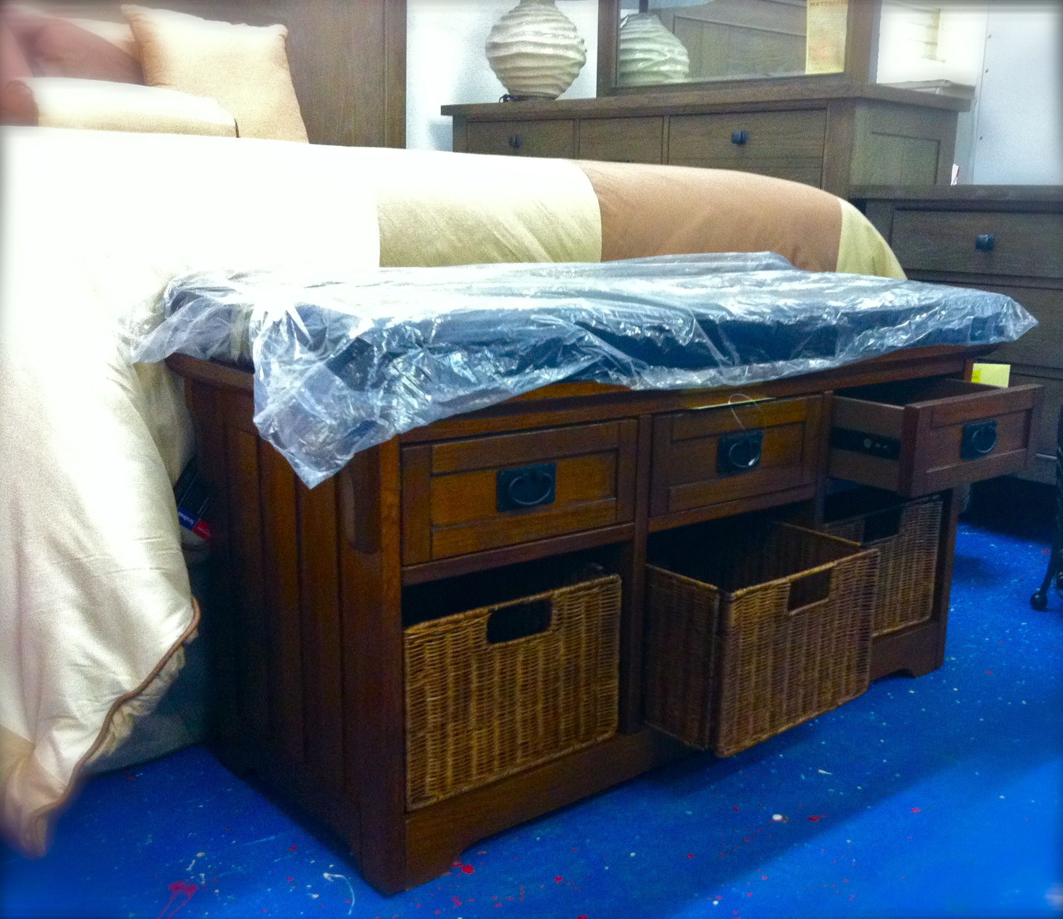 Storage solution for the bedroom. Place at the foot of the