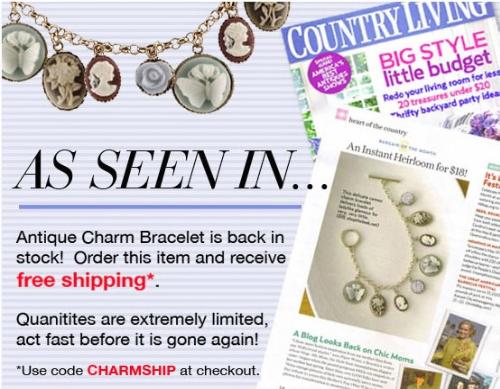 cameo charm bracelet country living