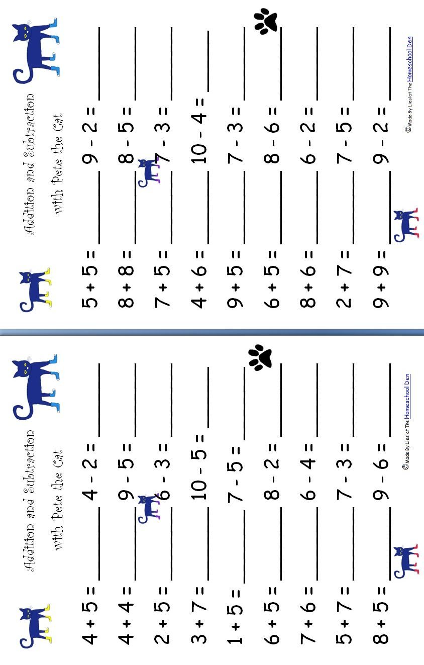 Workbooks subtraction decomposition worksheets : Addition-Subtraction-Pete-the-Cat | Math | Pinterest | Maths ...