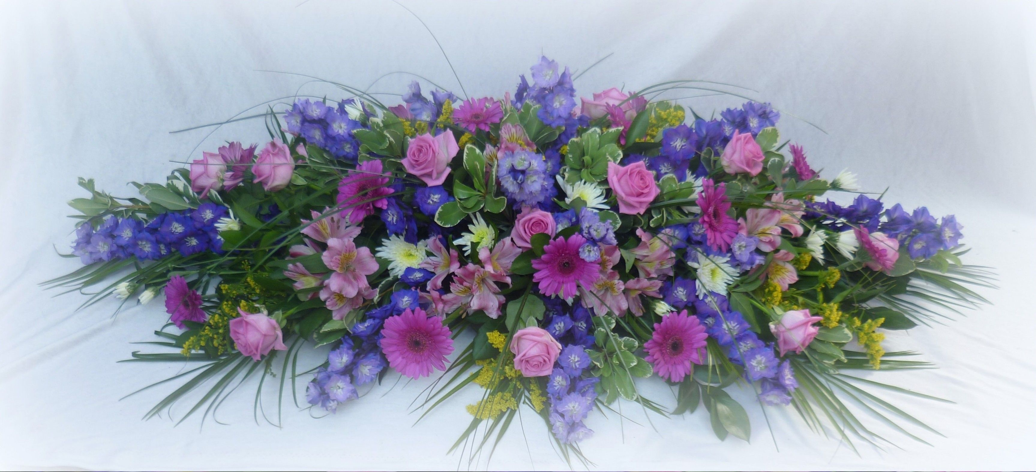 Casket Spray In Pink And Lilac Casket Sprays Pinterest Funeral